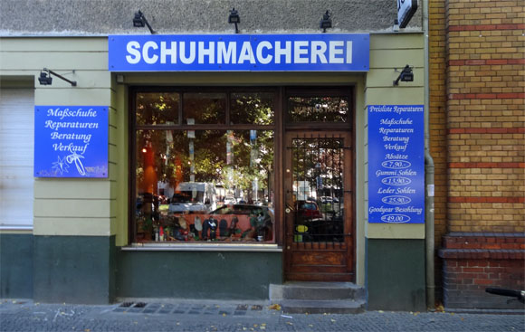 Store for handmade shoes in Bergmannstraße
